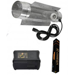 250w Omega Cooltube Lighting kit dual spectrum bulb